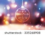 blurred winter background of... | Shutterstock .eps vector #335268908