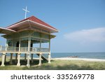 the old pavilion on beach | Shutterstock . vector #335269778