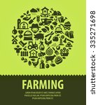 farming vector logo design... | Shutterstock .eps vector #335271698