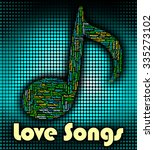 love songs showing sound tracks ... | Shutterstock . vector #335273102