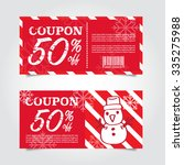 beautiful christmas sale tags... | Shutterstock .eps vector #335275988