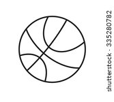 vector icon basketball ball... | Shutterstock .eps vector #335280782