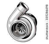 turbo on isolated white... | Shutterstock .eps vector #335286698