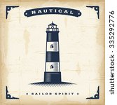 vintage lighthouse editable... | Shutterstock .eps vector #335292776