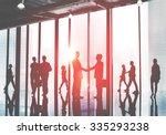 business people commuter... | Shutterstock . vector #335293238