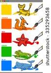 cartoon illustration of primary ... | Shutterstock . vector #335293658
