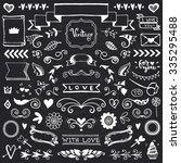 set of vintage sketch elements. ... | Shutterstock .eps vector #335295488