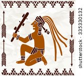 hand drawn indian of south... | Shutterstock .eps vector #335330132
