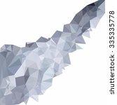gray polygonal mosaic... | Shutterstock .eps vector #335335778