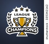 champions league sports logo ... | Shutterstock .eps vector #335342162