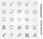 astronomy icons set   vector... | Shutterstock .eps vector #335344826