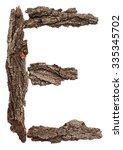 Alphabet From Bark Tree...