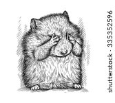 engrave hamster illustration | Shutterstock . vector #335352596