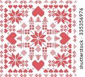 scandinavian style nordic... | Shutterstock .eps vector #335356976