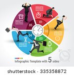 five sides infographic template ... | Shutterstock .eps vector #335358872