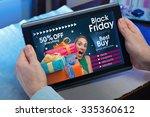 man searching website internet... | Shutterstock . vector #335360612