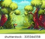 illustration sunny morning in... | Shutterstock . vector #335366558