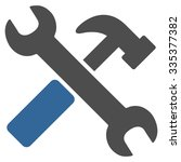 hammer and wrench glyph icon.... | Shutterstock . vector #335377382