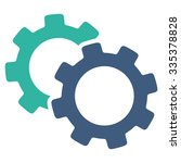 gears glyph icon. style is... | Shutterstock . vector #335378828