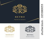 monogram design elements ... | Shutterstock .eps vector #335380055