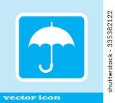 umbrella icon  blue icon. eps...