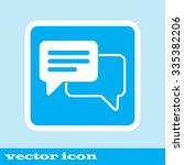 speech bubbles icon. pictograf... | Shutterstock .eps vector #335382206