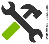 hammer and wrench glyph icon.... | Shutterstock . vector #335386388