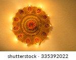 top view of an illuminated... | Shutterstock . vector #335392022