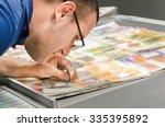 offset machine press fountain...   Shutterstock . vector #335395892