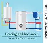 gas boiler banner. vector. | Shutterstock .eps vector #335413838