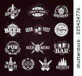 typographic beer labels and... | Shutterstock .eps vector #335424776