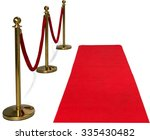 gold colored metal stanchions... | Shutterstock . vector #335430482