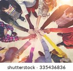 multi ethnic diverse group of... | Shutterstock . vector #335436836