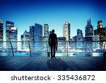 Businessman Cityscape Skyline...