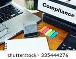 compliance   ring binder on... | Shutterstock . vector #335444276