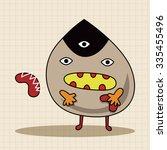monster cartoon theme elements... | Shutterstock .eps vector #335455496