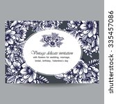 invitation with floral... | Shutterstock . vector #335457086