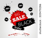 black friday sale poster for... | Shutterstock .eps vector #335470286