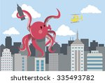 giant octopus attack | Shutterstock .eps vector #335493782