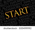 start word cloud  business... | Shutterstock .eps vector #335499992