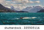 Small photo of A Humpback Whale going for a dive in Homer, Alaska.