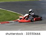 go kart driver successfully... | Shutterstock . vector #33550666