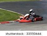 go kart driver successfully... | Shutterstock . vector #33550666