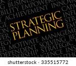 strategic planning word cloud ... | Shutterstock .eps vector #335515772
