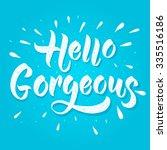 modern calligraphy... | Shutterstock .eps vector #335516186