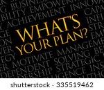 what's your plan word cloud ... | Shutterstock .eps vector #335519462