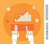 trading robot hands vector... | Shutterstock .eps vector #335532032