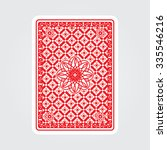playing cards back  | Shutterstock .eps vector #335546216