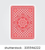 playing cards back  | Shutterstock .eps vector #335546222