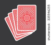 playing cards back  | Shutterstock .eps vector #335546255